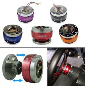 Universal Fit Steering Wheel Quick Release Adapter Snap Off Boss Kit Ball Hub