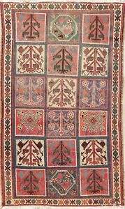 Garden Design Oriental Area Rug Hand Knotted 4x7 Geometric Tribal Nomad Carpet