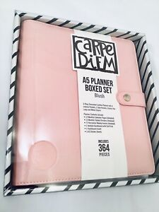Simple Stories Carpe Diem A5 Planner Boxed Set W inserts Accessories Blush