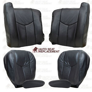 2003 2004 2005 2006 2007 Chevy Silverado Sierra Leather Seat Covers Dark Gray