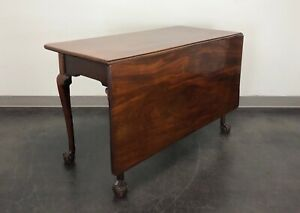 Antique Walnut Gate Leg Ball In Claw Drop Leaf Table