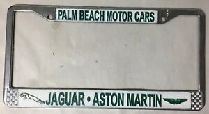 Palm Beach Motor Cars Jaguar Aston Martin Dealer License Plate Frame Chrome