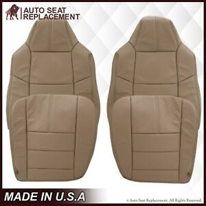 2008 2010 Ford F 250 F 350 F 450 F550 Lariat Xlt Leather Seat Cover In Camel Tan
