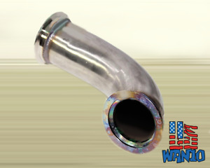 2 5 V band Stainless Steel 90 Degree Elbow Downpipe Exhaust For T3 t4 T04e Gt30