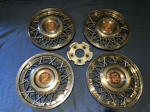 Cadillac Wire Wheel Covers Hub Caps W Retainers Caps 1950 1951 1952 1953 1954
