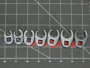 Snap On Tool 7pc Sae 3 8 Dr Flare Nut Crowfoot Wrench Set 3 8 3 4 6pt 207sfrh