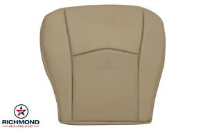 2007 2008 Cadillac Srx driver Side Bottom Replacement Leather Seat Cover Tan