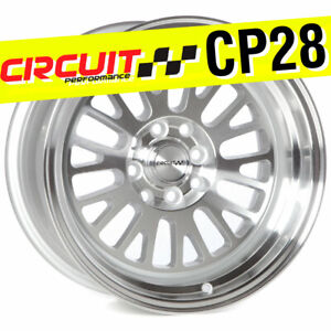 Circuit Performance Cp28 15x8 4 100 4 114 3 0 Silver Machined Wheels set Of 4