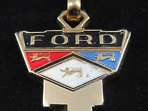 Ford Wide Crest Key Blank Chain 1966 92 Mint Vintage Mustang Torino Galaxie Ltd