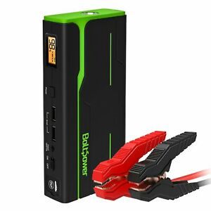 Car Jump Starter 900a Peak 12v Battery Booster Jumper Cable Portable Power Bank