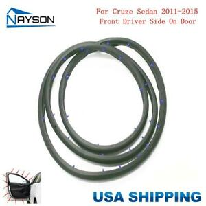 Door Rubber Seal Weatherstrip Front Left For Chevrolet Cruze Sedan 11 15