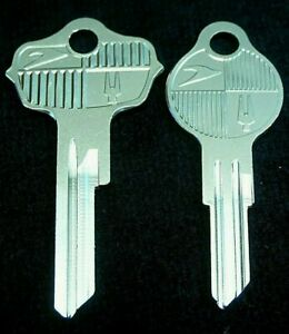 Studebaker Lark Logo Key Blank Set Fits Many 1947 1963 Commander Champion Hawk
