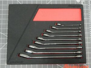 Snap On 9pc Sae Flank Drive Plus Ratchet Wrench Set 1 4 3 4 Foam Tray Soxrr01