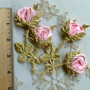 Antique Silk Ribbon Work Embroidery