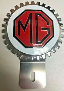 New Vintage Mg Mgb License Plate Topper Chromed Brass great Gift Item