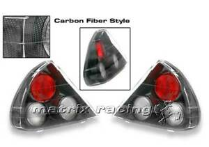 Mitsubishi Mirage 95 98 Carbon Fiber Tail Lights Lamps Euro Left Right Pair