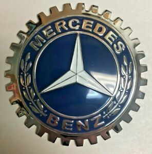 New Mercedes Benz Car truck Grill Grille Badge Chromed Brass Great Gift