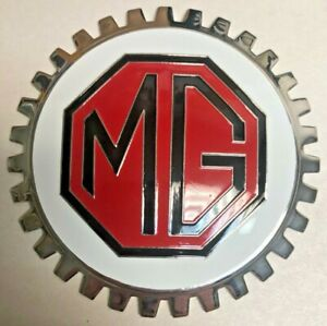 New Indoor outdoor Mg Mgb Badge emblem Adhesive Backed Chromed Brass