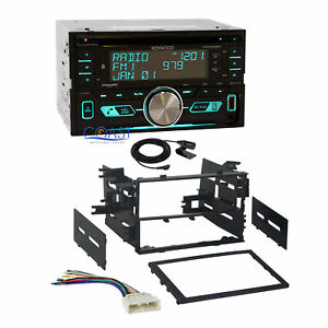 Kenwood Sirius Remote App Stereo 2din Dash Kit Harness For 1986 up Honda Acura
