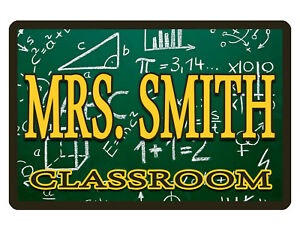 Personalized Teacher Classroom Sign Aluminum Glossy Full Color Custom Sign M 558