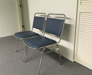 Office Reception Chairs Guest Conference Stackable Chrome Professional