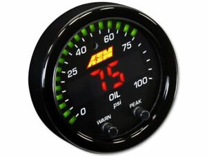 Aem 30 0301 X Series Pressure Oil Fuel Gauge 100psi 7bar