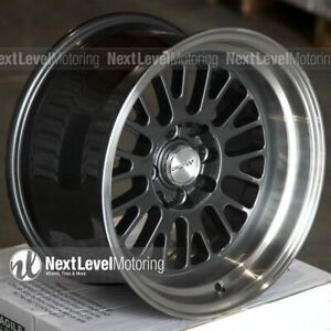 Circuit Performance Cp28 15x8 4 100 4 114 3 0 Gun Metal Wheels Fits Mazda Miata