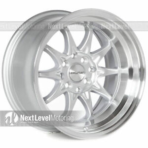 Circuit Performance Cp29 15x8 4 100 4 114 3 0 Silver Wheels Fits Acura Integra