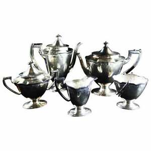 International Silver Co Barbours English Regency Style Coffee And Tea Set