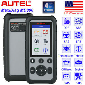 Autel Md806 Obd2 Auto Diagnostic Tool Dpf Abs Epb Engine Srs Better Md802 Md805