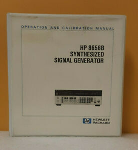 Hp 08656 90167 8656b Synthesized Signal Generator 0 1 990mhz Operation Manual
