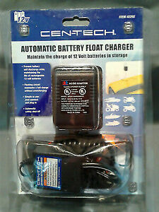 Cen Tech 12v Automatic Battery Float Charger 42292