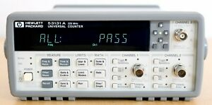 Hp Agilent 53131a 3 Ghz Universal Frequency Counter timer Option 010