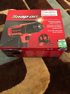 New Snap On 1 2 Cordless Impact 18v Li Ion Ct8850g 2 Batteries Charger