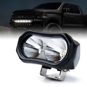 Xprite 1 Piece 10w Cree Led Flood Light Bar For Grille Bumper Offroad Truck Jeep