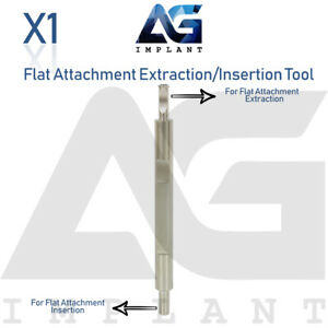 Insertion Extraction Driver For Flat Attachment Dental Implant Surgical Tool