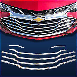 Chrome Grille Overlay 6 Pcs Compatible With 2019 2020 Chevy Cruze