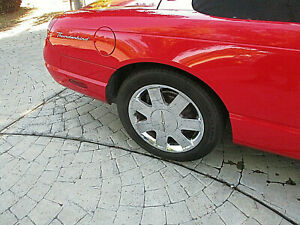 Passenger Rear Chrome Wheel W Ctr Cap 17 In Ford Thunderbird 02 03 04 05