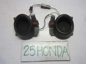 1992 1995 Honda Civic Ex Si Optional Tweeters Inserts Oem Eg Ej Jdm Rare Black