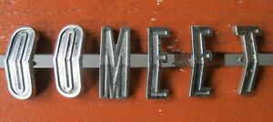 64 Mercury Comet Rear Quarter Letter Lot 6 O O M E E T 1964 Nice
