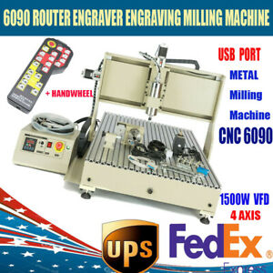 6090 4 Axis Cnc 1 5kw Router Engraving Usb Port Machine Metal Milling Machine 3d