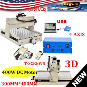 Cnc3040t 4 Axis Usb Router Engraver Engraving Drilling Milling Machine 400 Motor