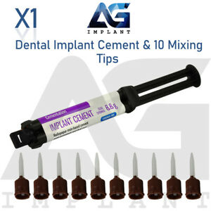 Dental Implant Cement Dual Barrel Syringe 10 Mixing Tips For Crown Self Adhesive