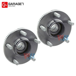 Pair Front Wheel Hub Bearing Assembly Fit 2002 2006 Infiniti Q45 4 5l Base Sedan