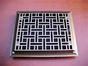 Antique Ornate Cast Iron Heating Grate Register Vent Floor Wall 1885 1886