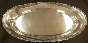 Genuine Shreve Co Silversmiths San Francisco Sterling Silver Bread Tray