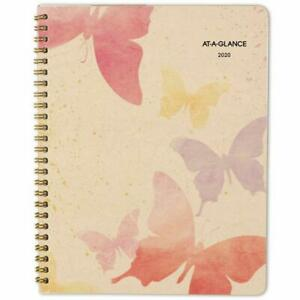 At a glance 2020 Monthly Planner 7 X 8 3 4 Medium Recycled Watercolors 79