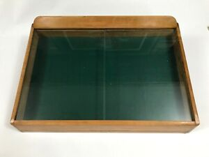 Vintage Hardware Counter Display Wood Glass Display Case