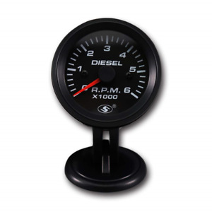 Motor Meter Racing Universal Tachometer For Alternator 2 6000 Rpm Black Dial On