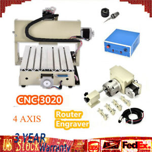 4axis Cnc 3020 Router Engraver Desktop For Pmma Mdf Board Mill Cutter Machine Us